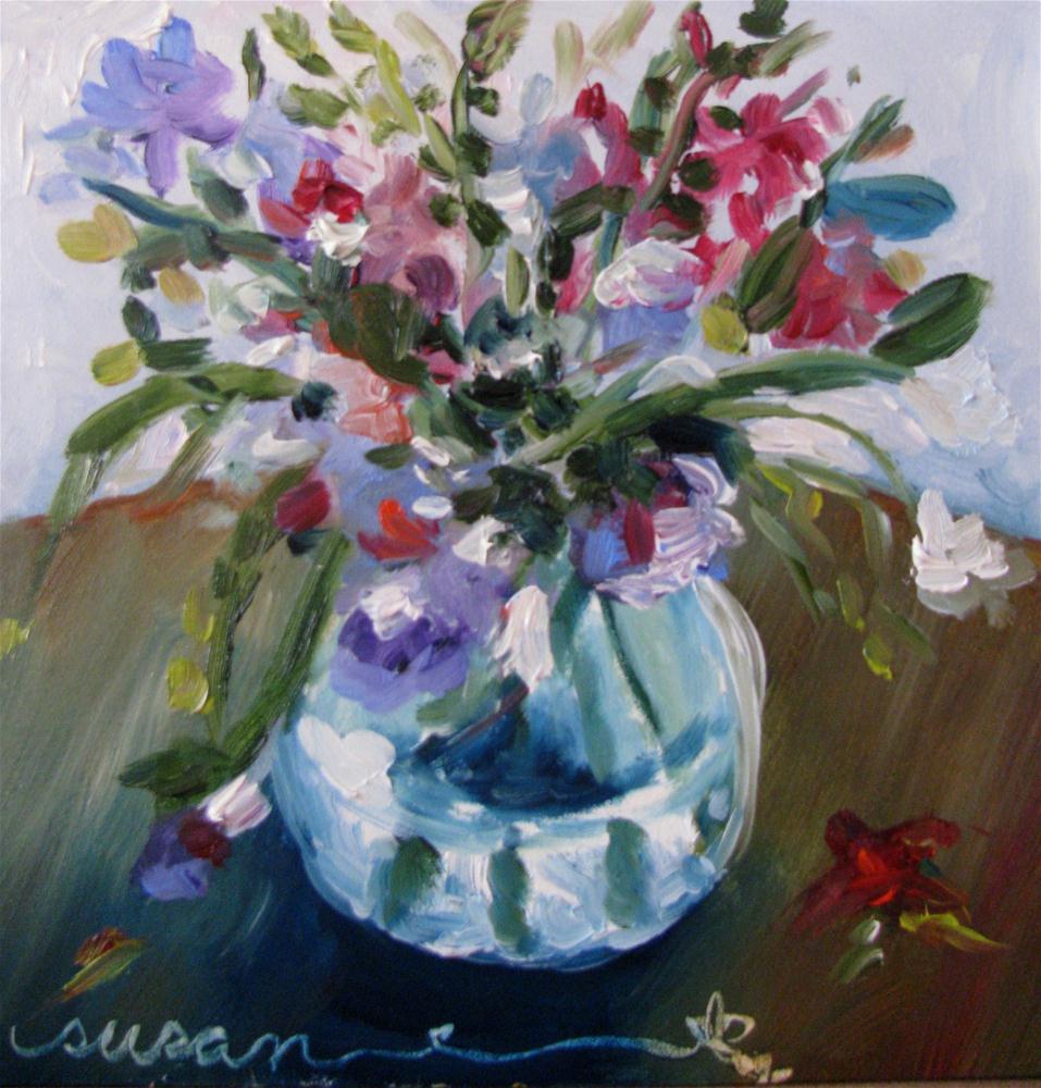 """Hot House Flowers"" original fine art by Susan Elizabeth Jones"