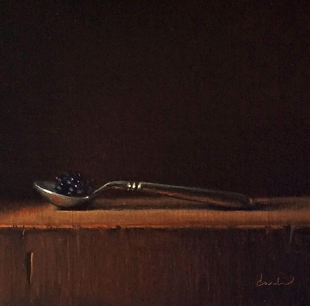 """Still Life with Spoon and Blackberry"" original fine art by Darla McDowell"