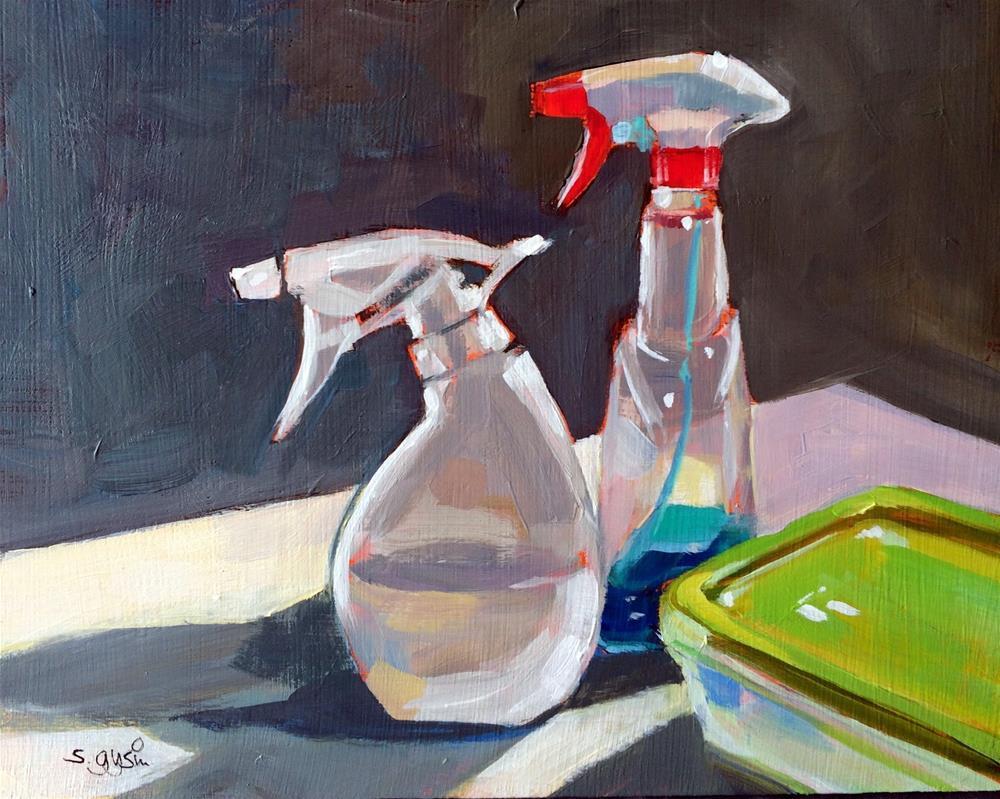 """P - is for Plastic Companions"" original fine art by Suzanne Gysin"