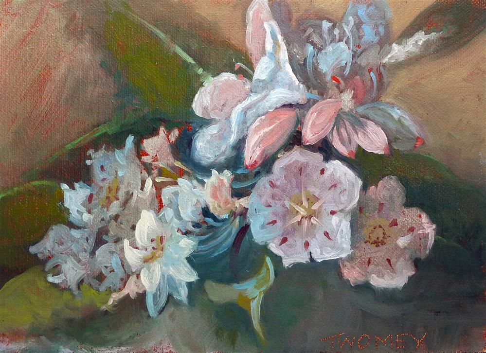 """""""Mountain Laurel Rhododendrons Spring Gala"""" original fine art by Catherine Twomey"""