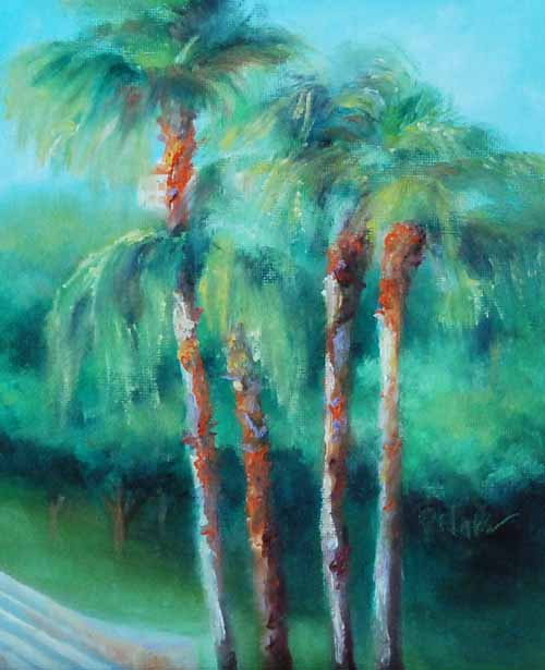"""Orlando Palms"" original fine art by Donna Pierce-Clark"