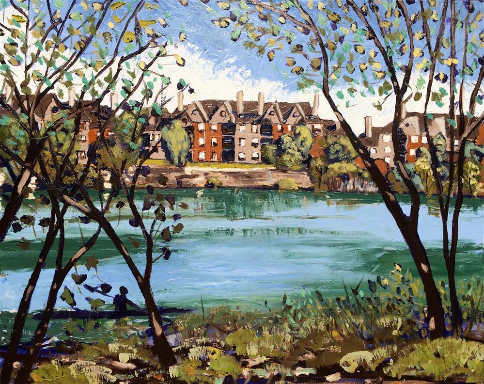 """Quarry Lake"" original fine art by Darryl Freeman"