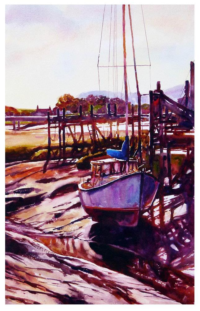 """Low tide, Skippool creek."" original fine art by Graham Berry"