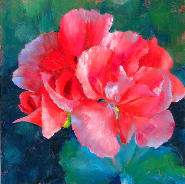 """A Few More Petals"" original fine art by Brenda Ferguson"