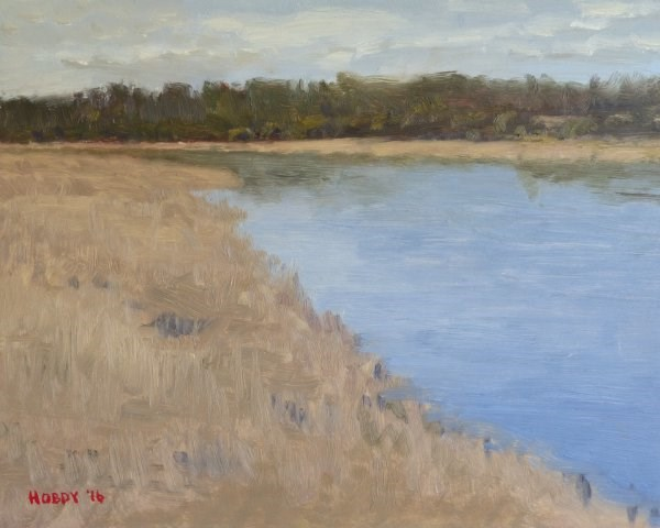 """Mississippi River, Overcast"" original fine art by Weston Hobdy"