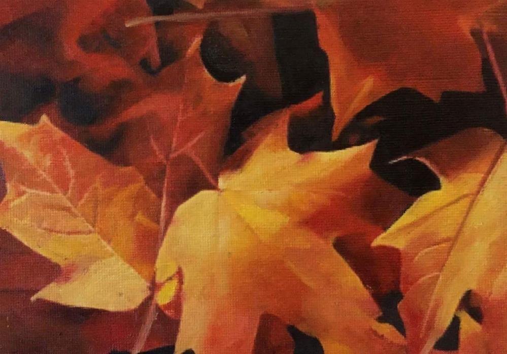 """Autumn Leaves"" original fine art by John Cameron"