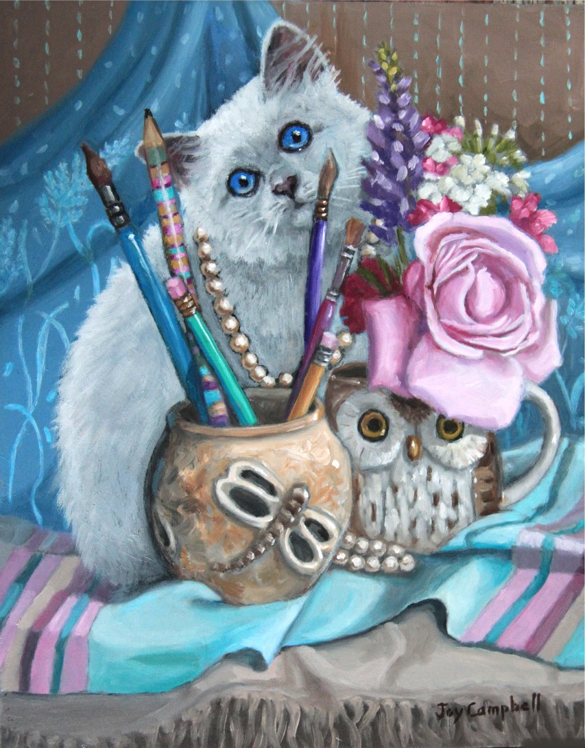 """Blue Eyes"" original fine art by Joy Campbell"