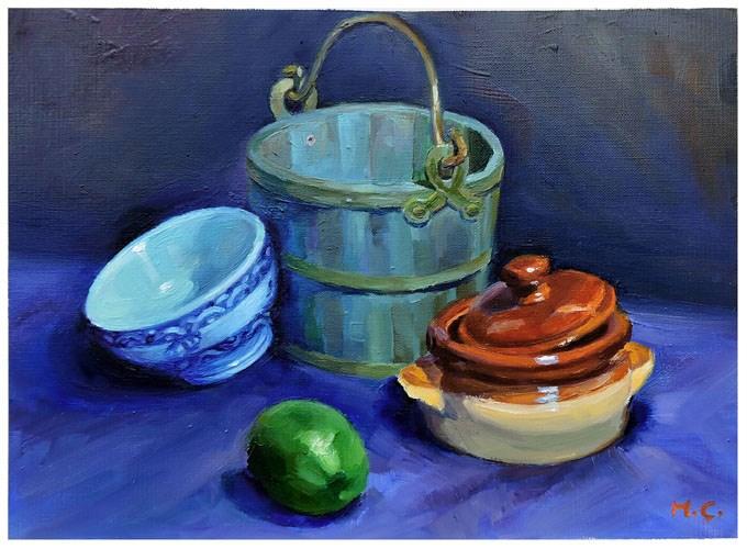 """Still life"" original fine art by Michelle chen"