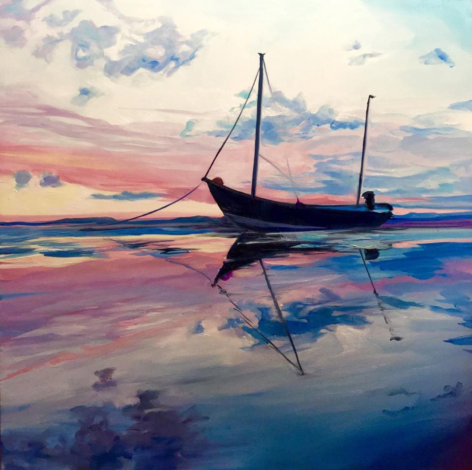 """Drifting toward Peace"" original fine art by Lauren Kuhn"