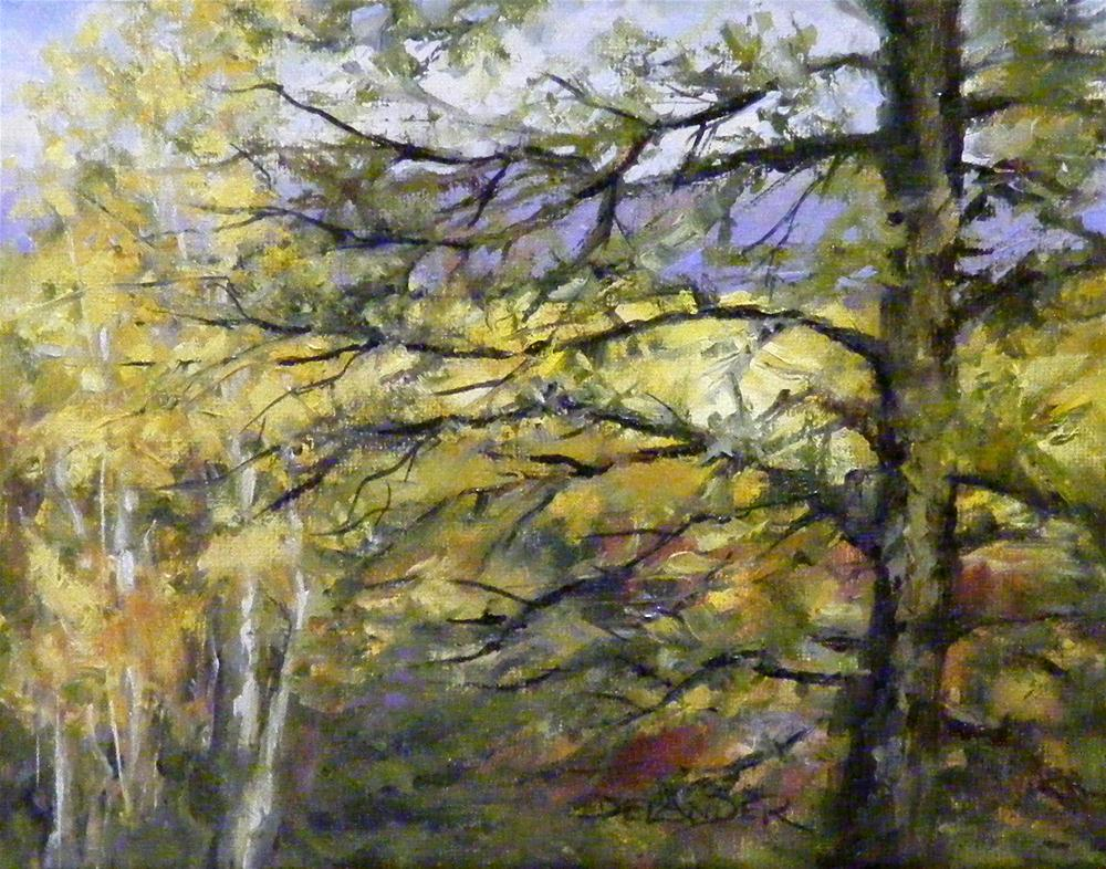 """Aspen and Pine"" original fine art by Diana Delander"