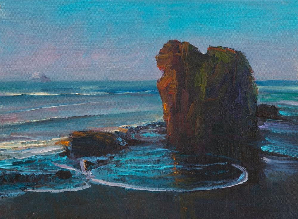"""San Simeon Morning, Big Sur, 9x12"" original fine art by Pavel Gazur"