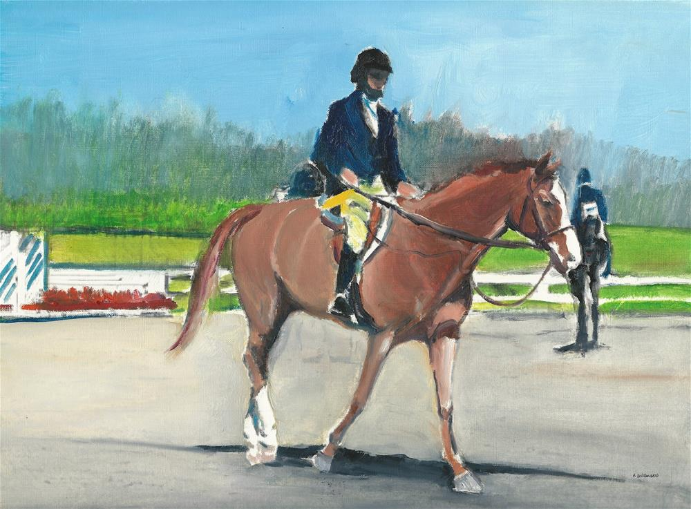 """""""A Horse Called Wendy (12 x 16 oil on canvas paper - no frame)"""" original fine art by Ramon DelRosario"""