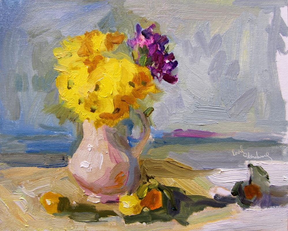 """Daisies in the Studio"" original fine art by Carol Steinberg"