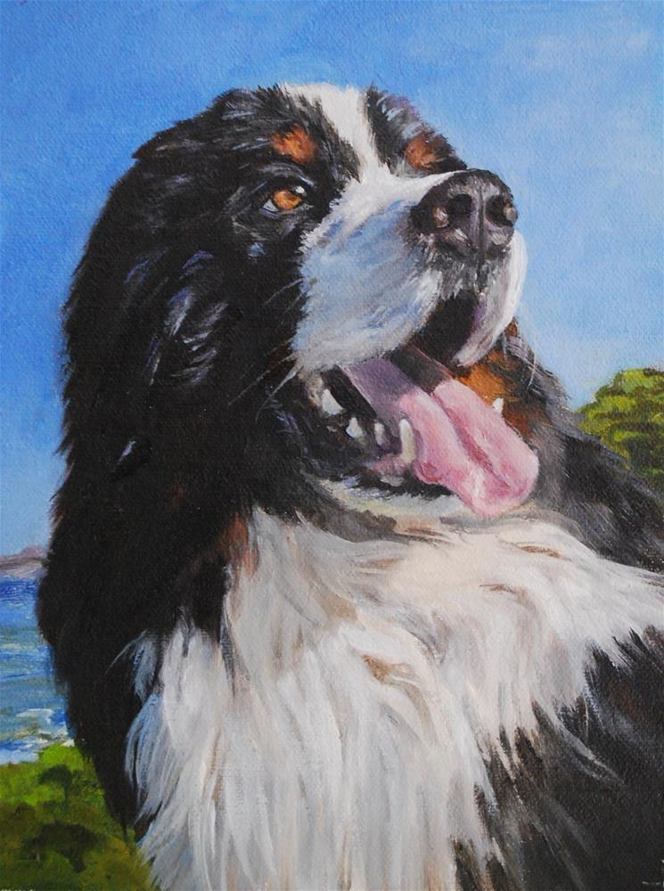 """Brando"" original fine art by Beverley Phillips"