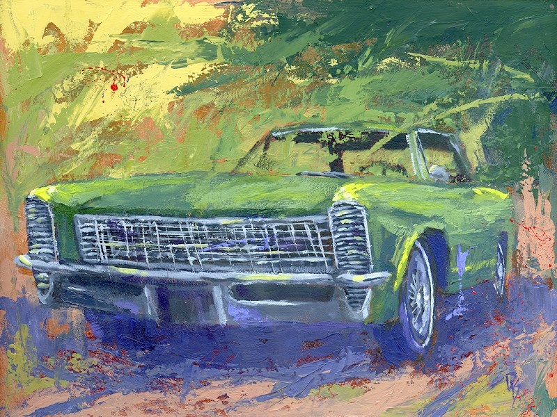 """Green 1965 Buick Riviera"" original fine art by David King"