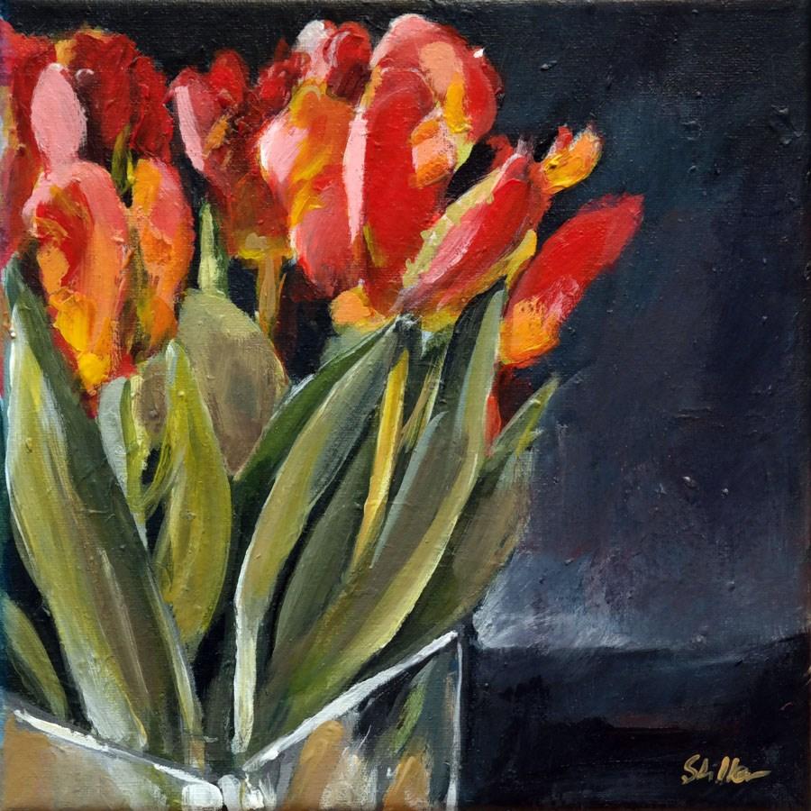 """""""1659 Parrot Tulips"""" original fine art by Dietmar Stiller"""