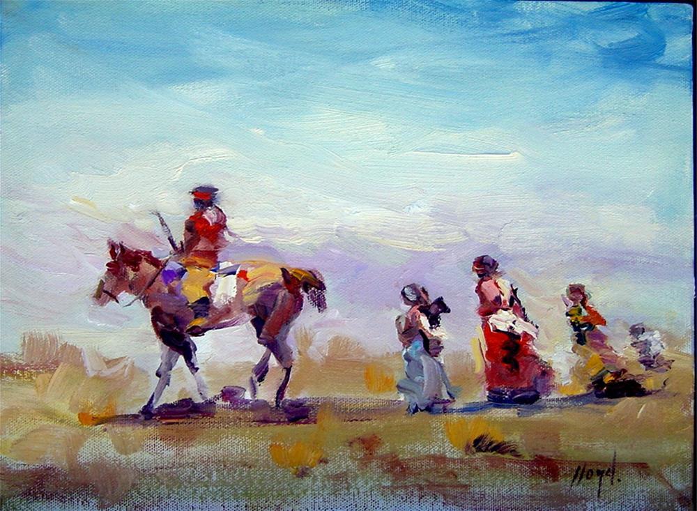 """A Nomadic Life"" original fine art by Diane Lloyd"