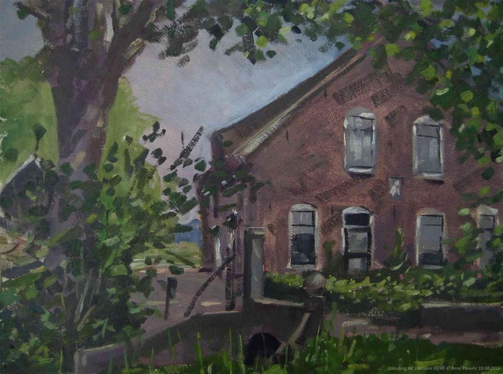 """Loosdorp 44 Leerdam, The Netherlands."" original fine art by René PleinAir"