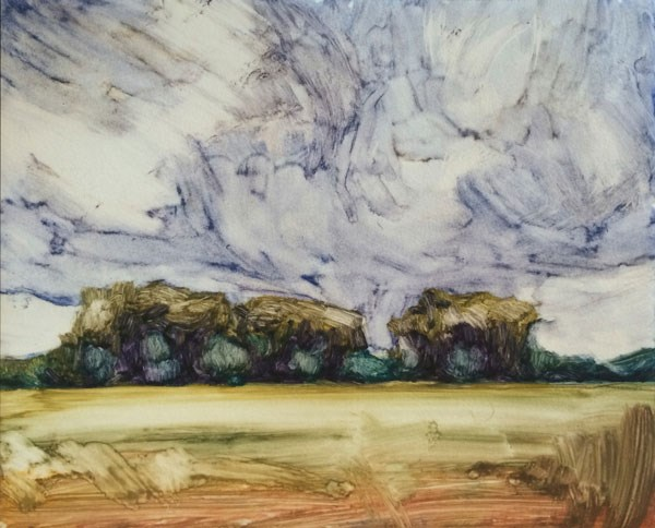 """Storm Over the Grove, IV"" original fine art by Mary Gilkerson"