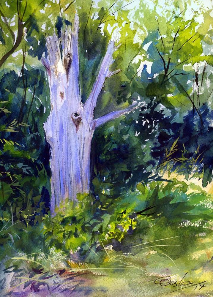 """""""Dead Tree"""" original fine art by Chris Ousley"""