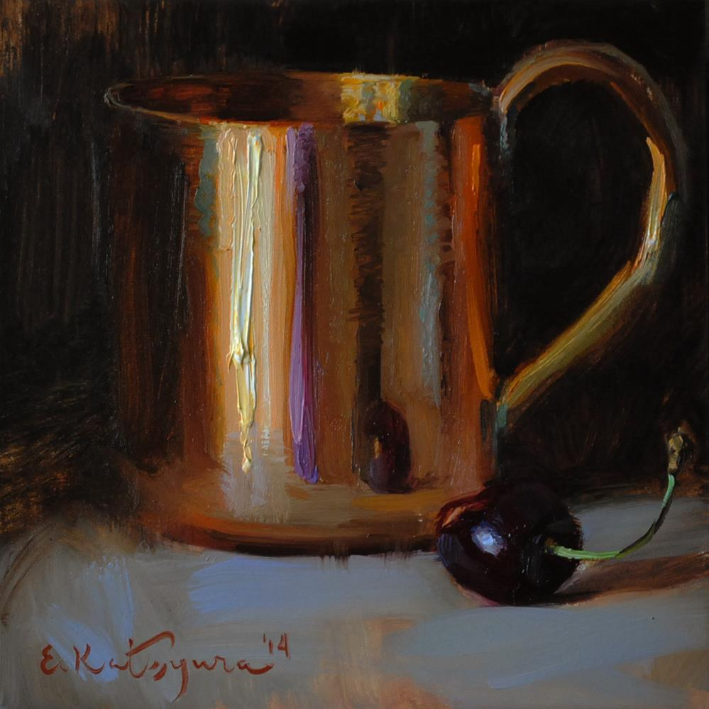 """Copper and Cherry"" original fine art by Elena Katsyura"