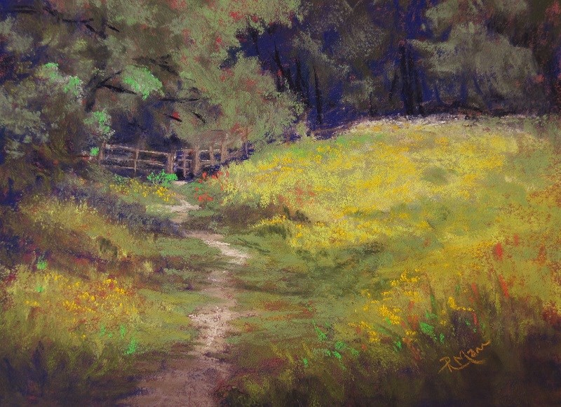 """Meadow Walk"" original fine art by Ruth Mann"