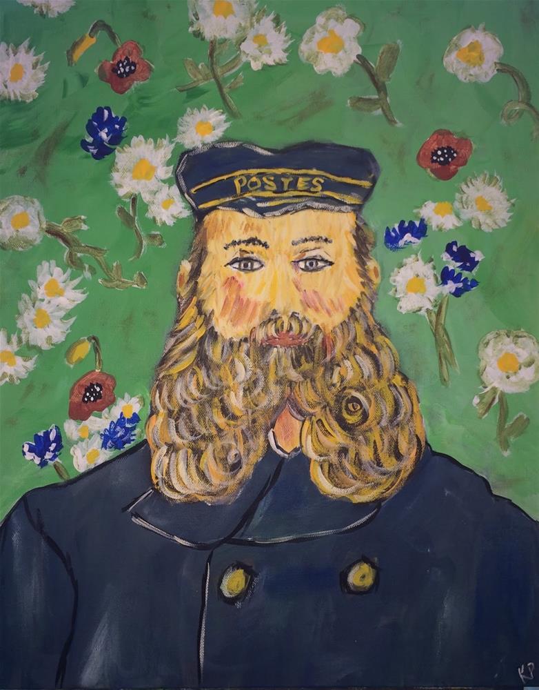 """Van Gogh's Postman"" original fine art by Kali Parsons"
