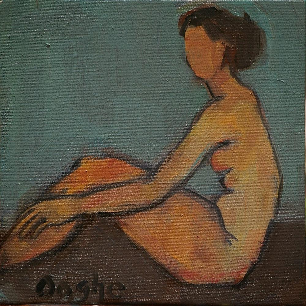"""Seated Nude 2"" original fine art by Angela Ooghe"