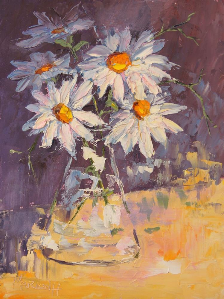 """""""Daisy Still Life"""" original fine art by Marion Hedger"""