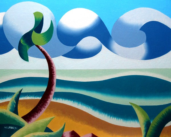 """Mark Webster - Abstract Geometric Ocean Coast Landscape Oil Painting"" original fine art by Mark Webster"