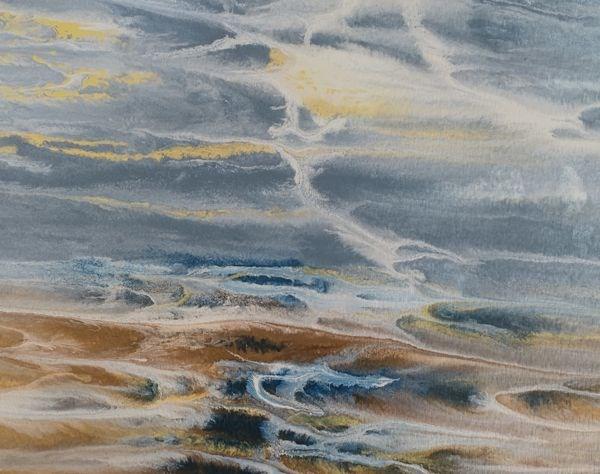 """Contemporary Seascape, Abstract Ocean Art, Coastal Living Decor, Fine Art Stormy Waters-Study I by"" original fine art by Kimberly Conrad"