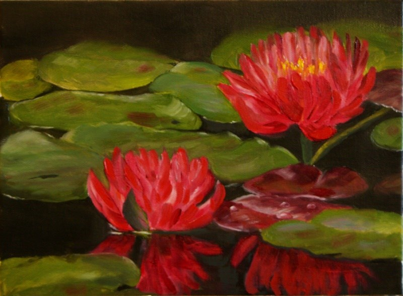 """Reflections of Red"" original fine art by Mary Datum"