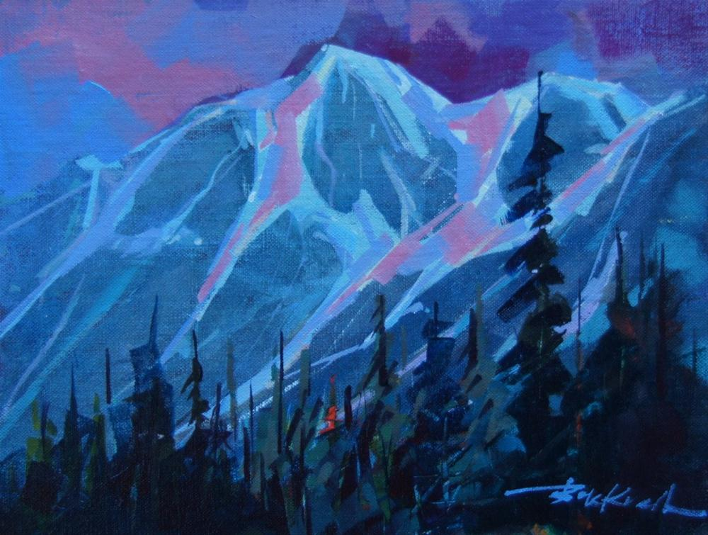 """Teton Evening"" original fine art by Brian Buckrell"