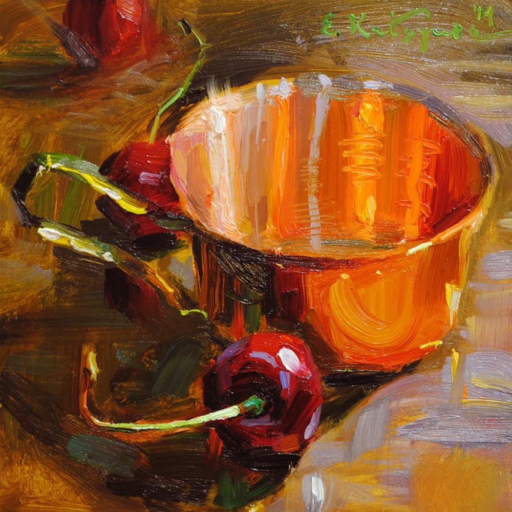"""Copper Cup"" original fine art by Elena Katsyura"