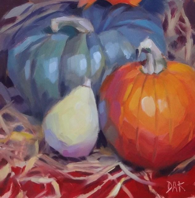 """Autumn Trio"" original fine art by Deborah Ann Kirkeeide"