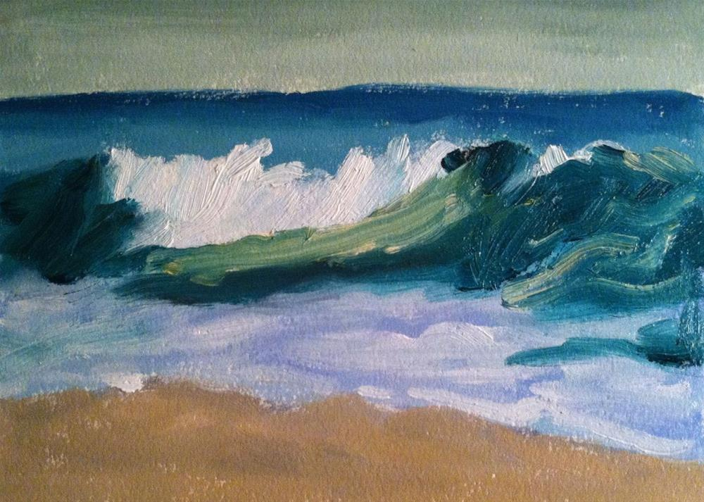 """Seascape Wave"" original fine art by Christine Parker"