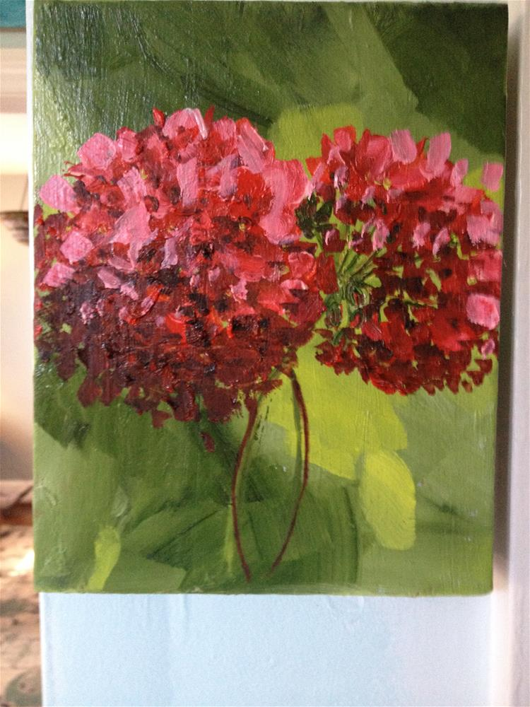 """geraniums"" original fine art by Debra Soffee"