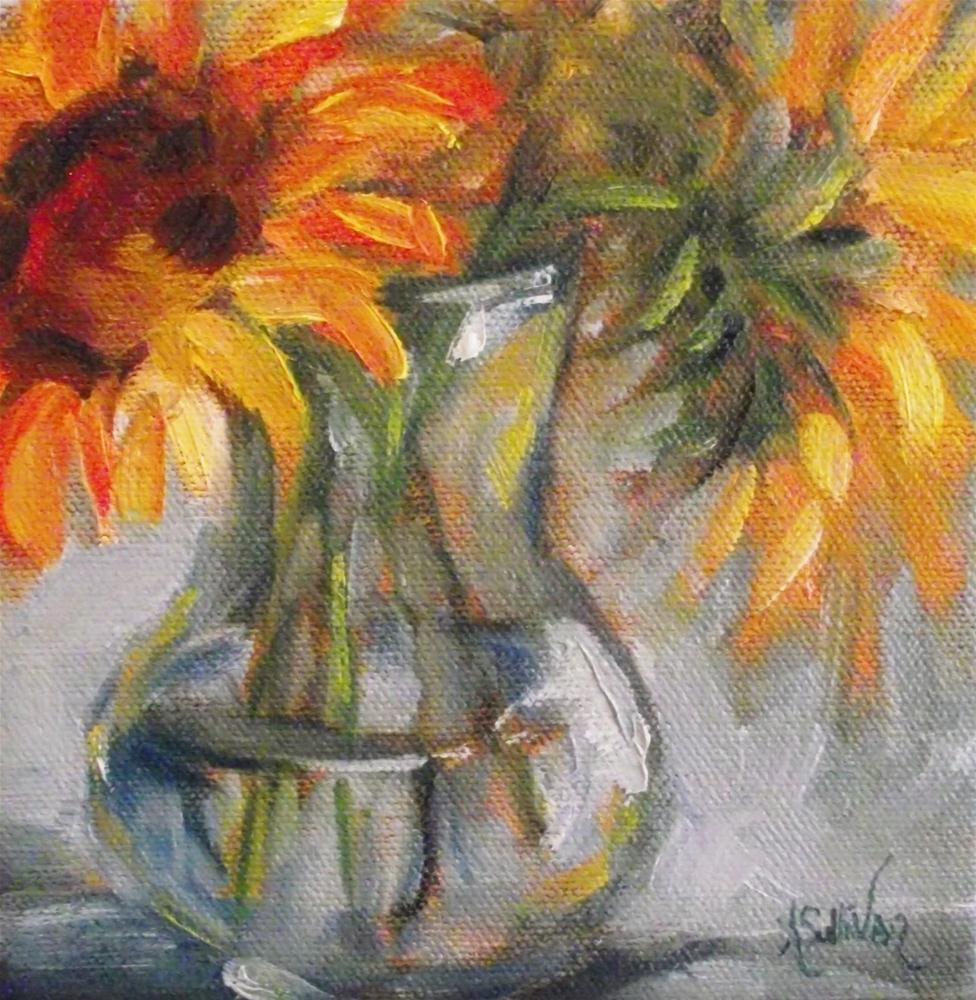 """Sunshine In A Vase"" original fine art by Angela Sullivan"