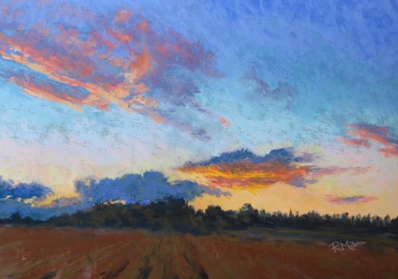 """""""Norfolk Sunset"""" original fine art by Ruth Mann"""