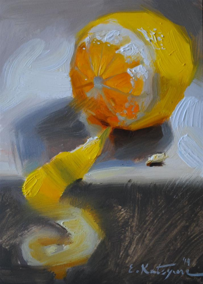 """Lemon III"" original fine art by Elena Katsyura"