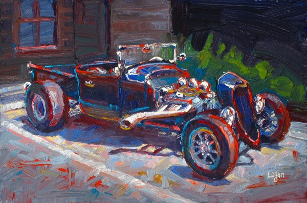 """AG Hot Rod"" original fine art by Raymond Logan"