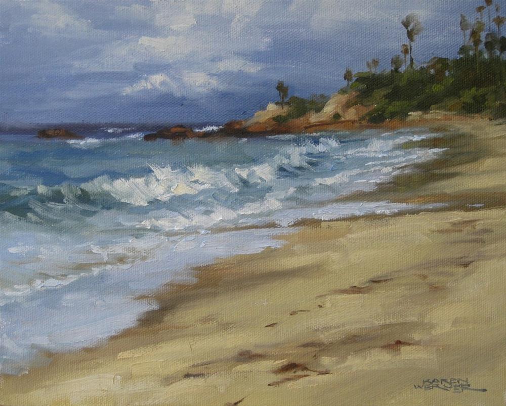 """Rain Forecast, Laguna"" original fine art by Karen Werner"
