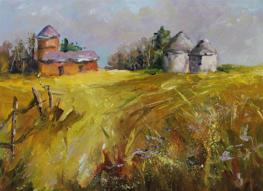 """Original oil landscape rural country painting"" original fine art by Alice Harpel"