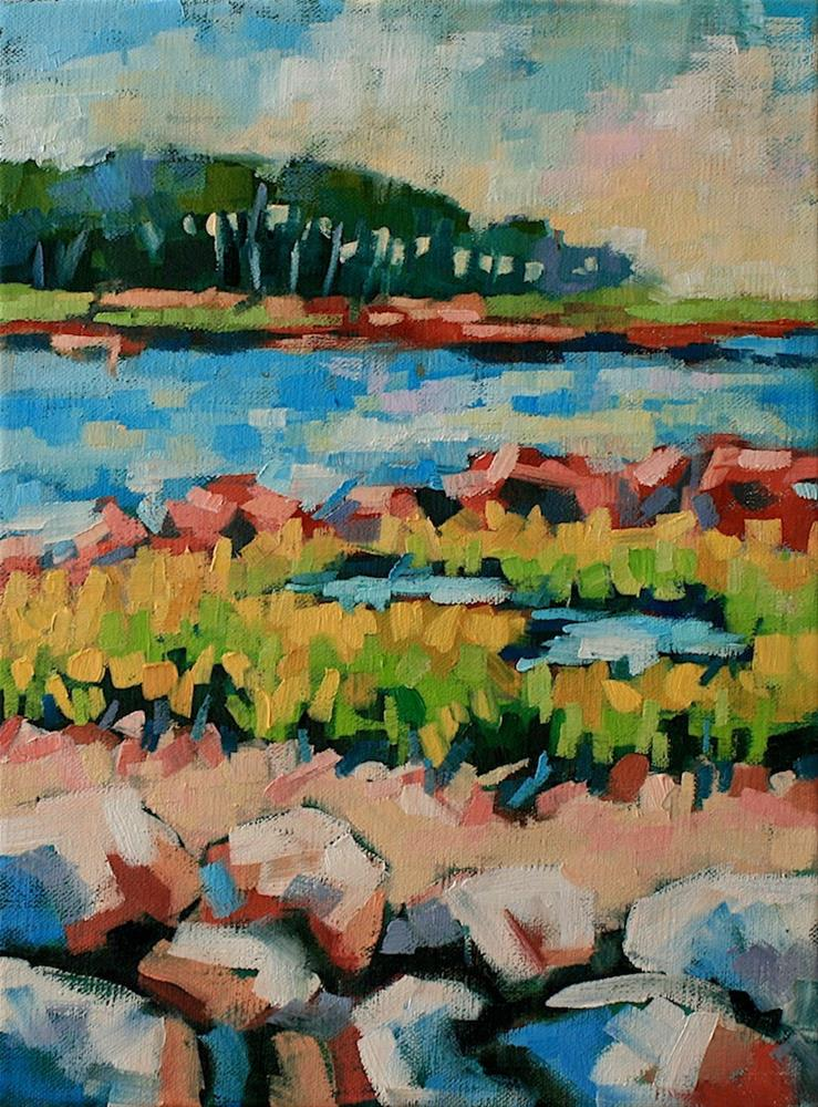 """Down by the Bay"" original fine art by Mary Anne Cary"