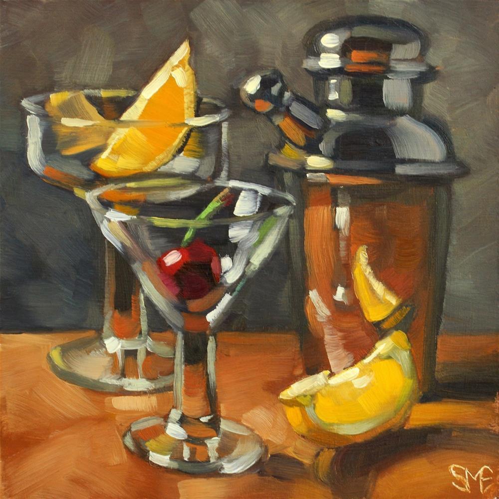 """Drones Club Fruit Salad"" original fine art by Sheila Evans"