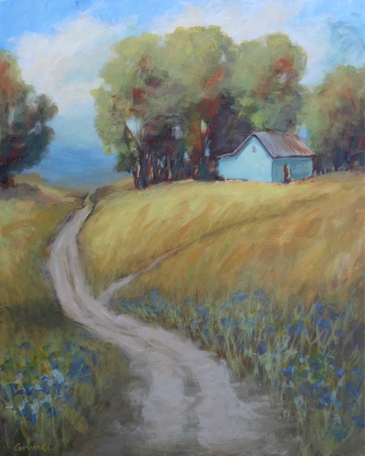 """""""Country Road"""" original fine art by Sue Cervenka"""