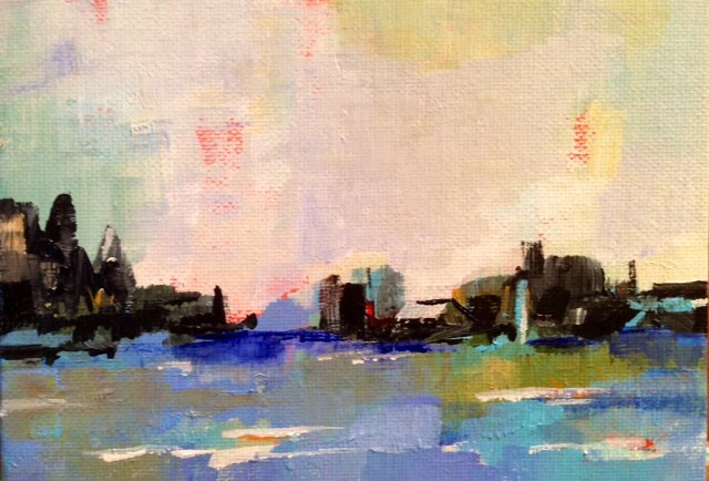 """""""View of the City"""" original fine art by Molly Wright"""