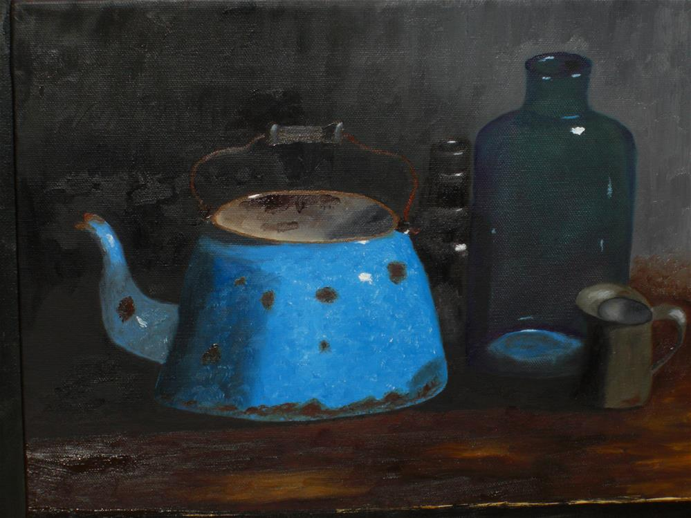 """Blue and Rust"" original fine art by Bob Blackmon"