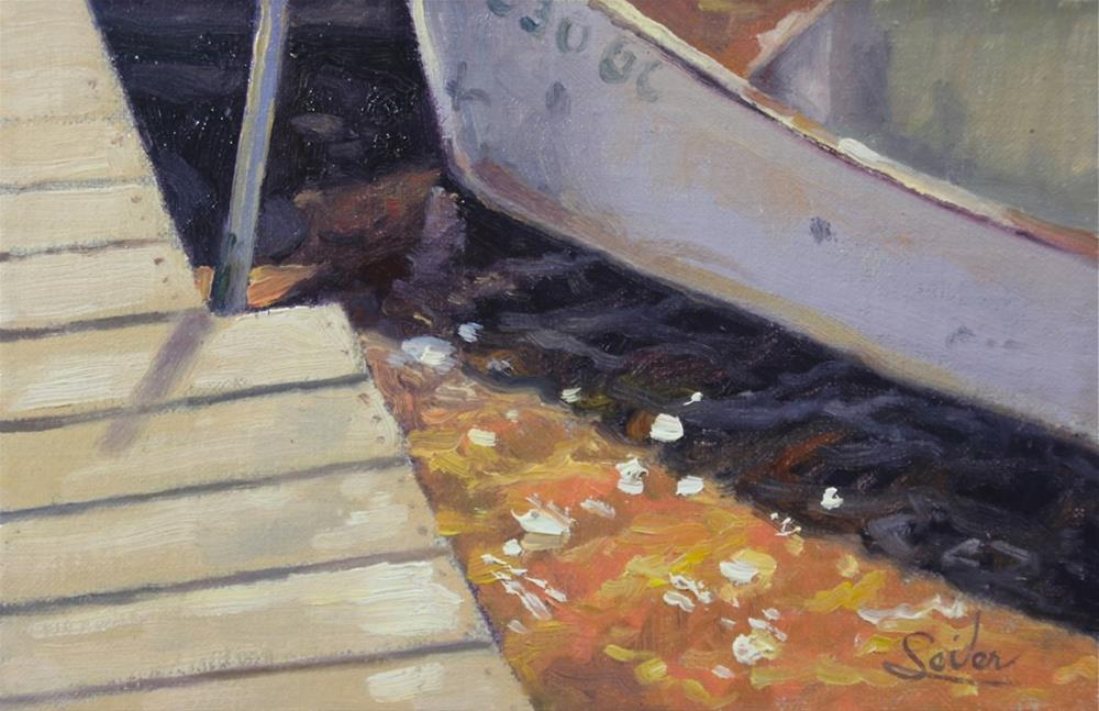 """Dockside Boat"" original fine art by Larry Seiler"
