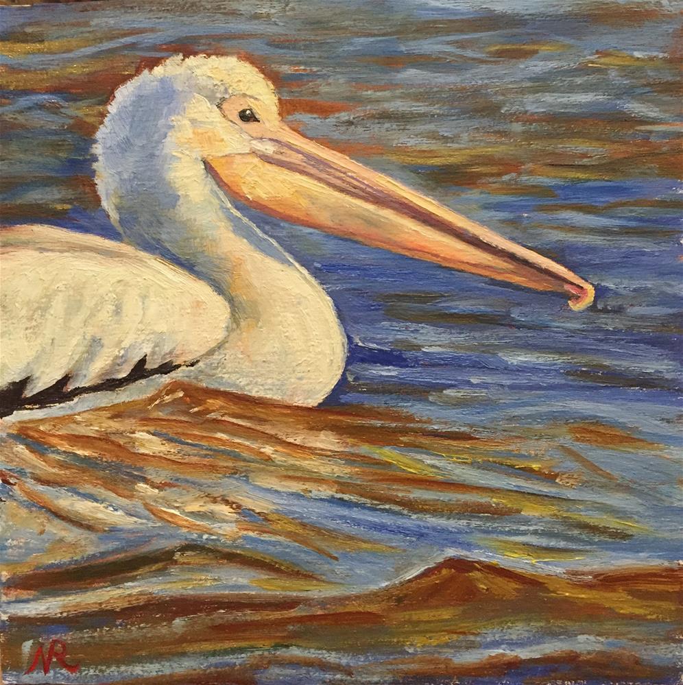"""Pelican"" original fine art by Natasha Ramras"